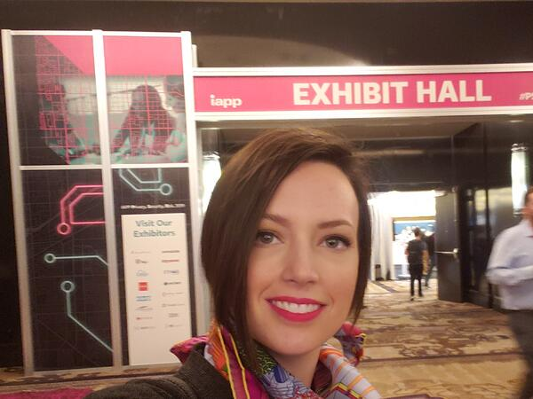 Research analyst Merry Marwig at the IAPP conference.