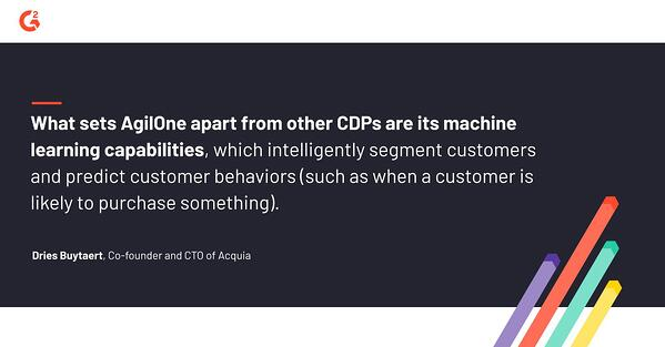 Dries Buytaert discusses how what sets AgilOne apart from other CDPs are its machine learning capabilities