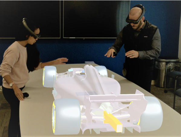 People use VR CAD solutions to interact with a 3D model.