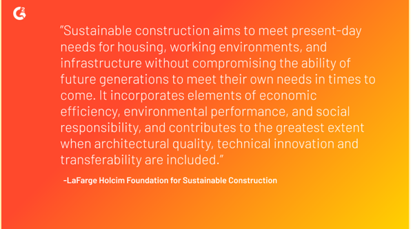 The LaFarge Holcim Foundation for Sustainable Construction believes that sustainable construction aims to meet present-day needs for housing, working environments, and infrastructure without compromising the ability of future generations to meet their own needs in times to come.