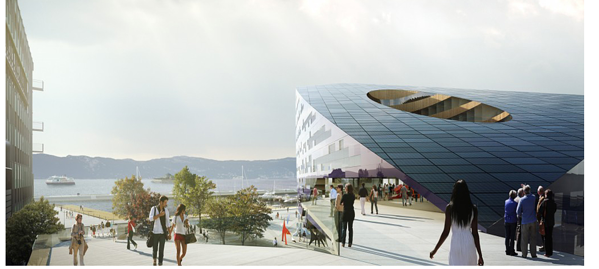 design of the Powerhouse One in Trondheim, Norway