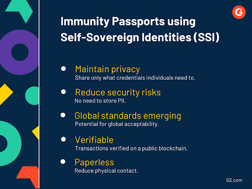 the benefits of using self-sovereign identities (SSI) for immunity passports